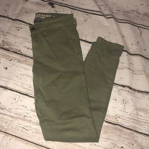 Mid Rise Olive Jeans